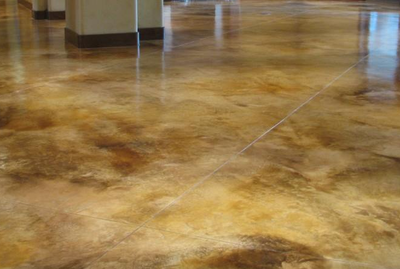 Decorative concrete floor with marble sealed finish in Findlay, Ohio