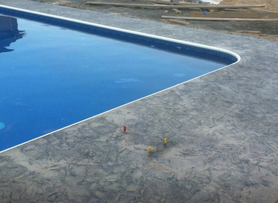 Decorative pool deck in Perrysburg, Ohio